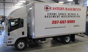 Eastern Basements, Maine Wet, Damp Basement Walls and Floor Waterproofing Solutions and Service Contractors, serving the State of Maine