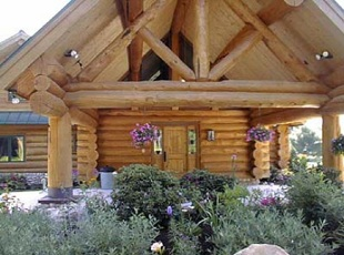 C. A. Construction and Tucker Mountain Log Homes, Log Home Construction and Builders, Sullivan Maine