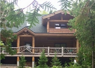 Tucker Mountain Log Homes, Maine Log Home Builders, Custom Maine Log Houses & Outbuildings, Log Home Restorations. General Contractors